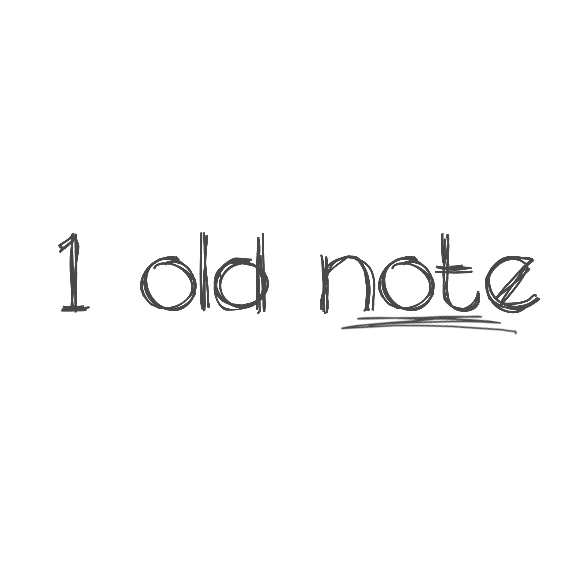 1 Old Note